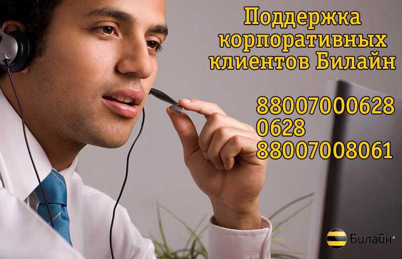 Телефон билайн техподдержка юридических лиц
