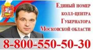 Написать письмо губернатору московской области Воробьеву электронно