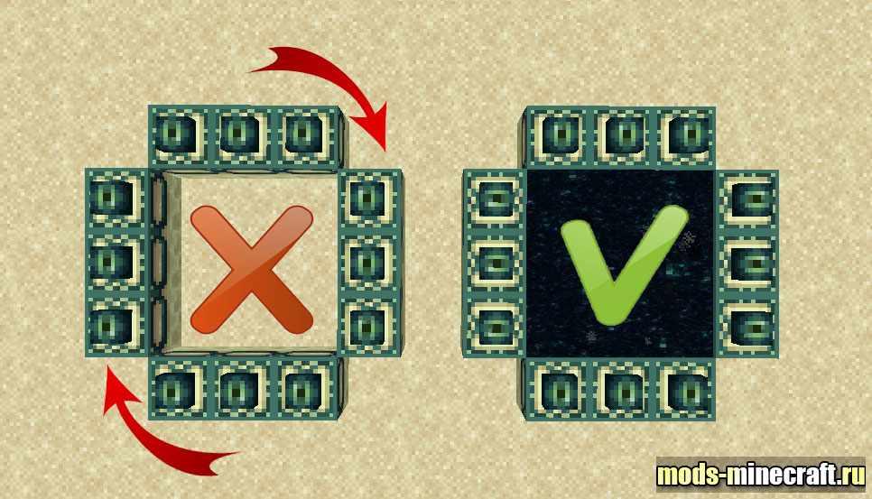 Установка портала в эндер мир » MinecraftOnly